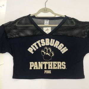 "Pittsburgh Panthers Cropped Jersey ""Pink"""